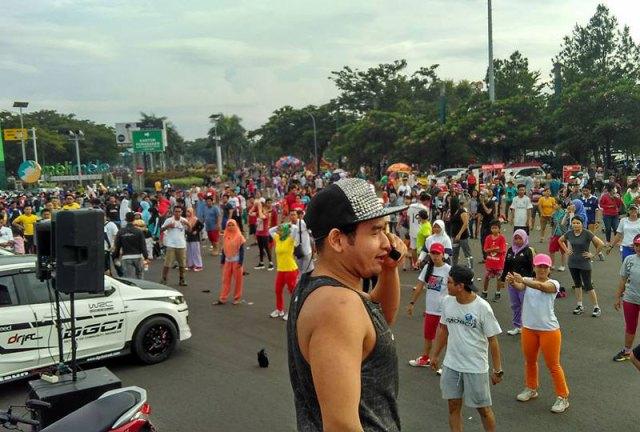Sehat melangkah bersama Datsun Go Community Indonesia (DGCI) Bekasi Raya dan Gold's Gym