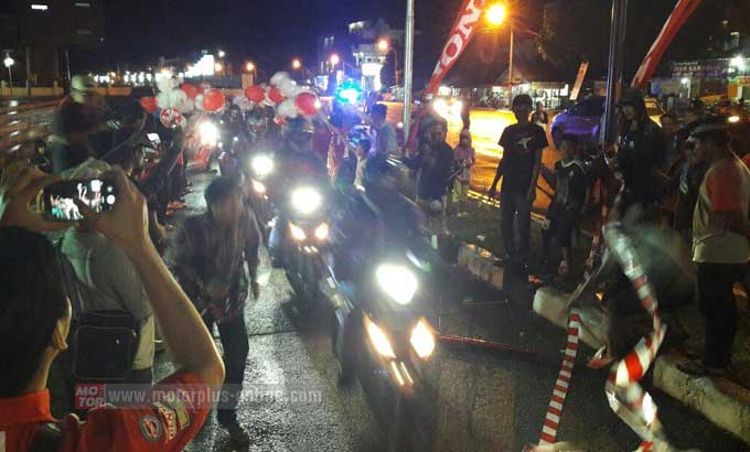 Rombongan tes Grand Touring All New Honda GTR 150 sampai di Mamuju